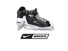 New Bauer One55 Ice Hockey Goalie skates size 12D Senior black/white men SR