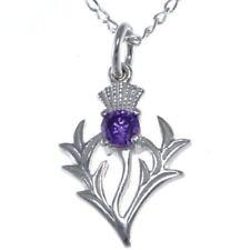 Collares y colgantes de joyería colgante de plata de ley amatista