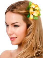 New Orange Hibiscus Fleur Pince à cheveux fantaisie robe de mariée Hawaïen Luau Fête