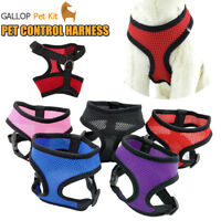 Adjustable XS-XL Pet Control Harness for Large Dog Collar Safety Strap Mesh Vest