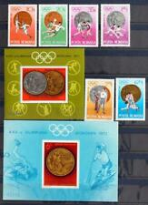 ROMANIA 1972 OLYMPICS, XF Cpl ImPerf + Perf MNH** Sheets + Set, Space, Olimpicos