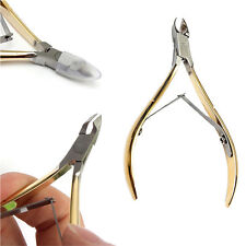 2PCS Cuticle Nipper Nail Art Clipper Dead Skin Remover Manicure Stainless Steel