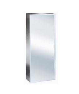 Zanex Luxury Stainless Steel Bevelled Edge 600mm Tall Bathroom Mirror Cabinet