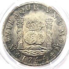 1744-MO MF Mexico Pillar Dollar 8 Reales Coin (8R) - Certified PCGS AU Details
