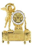LA FORTUNE. Kaminuhr Empire clock bronze horloge antique pendule uhren