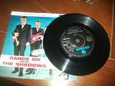 """THE SHADOWS DANCE ON WITH THE SHADOWS 1963 7"""" EP RECORD"""