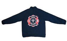New First Tactical Mens 1/4 Zip Navy Blue Long Sleeve Pullover Size L Reg Fire
