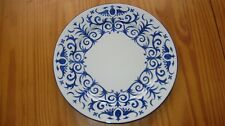 "Limoges France Lafarge Porcelaine Festival Pineapple Blue Border 11 3/4"" Plate"