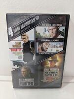 Steve McQueen: 4 Film Favorites (DVD, 2013, 4-Disc Set) Brand new sealed