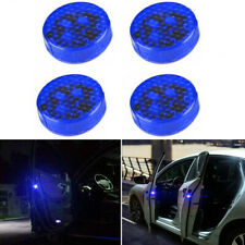 4x Car 5LED Door Open Warning Lamp Strobe Flash Anti-collision Safety Blue Light