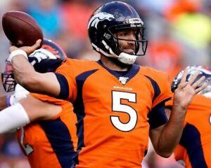 JOE FLACCO 8X10 PHOTO DENVER BRONCOS PICTURE NFL FOOTBALL CLOSE UP