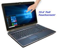 """Dell Latitude E6520 15.6"""" Touchscreen LCD Laptop Intel Core i5 2.50GHz Webcam PC"""