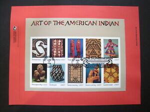 USPS ART of AMERICAN INDIAN 2002 Navajo Seminole Stamp Sheet First Day Issue