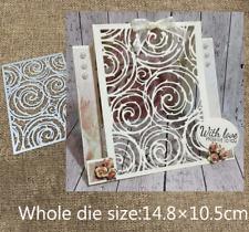 Frameless Tree Wheel Background Metal Cutting Dies Scrapbook Album Paper Craft