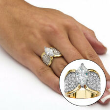 Fashion Women Shiny Marquise Cut Cubic Zirconia Ring Party Jewelry Gift Utility