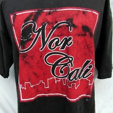 Nor Cali California Vintage T Shirt 90's Graphic Made in the USA XL Tall