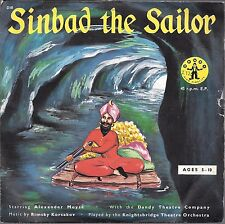 Vintage 45 record sinbad the sailor dandy alexander moyse childrens 7""