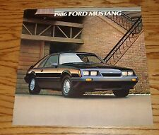 Original 1986 Ford Mustang Sales Brochure 86 LX GT SVO
