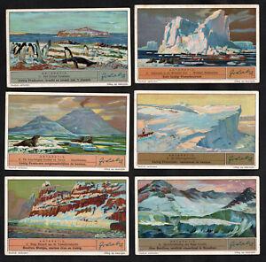 The Antarctic Liebig Card Set 1936 South Pole Penguin Iceberg Volcano Glacier
