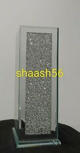 Crushed Crystal Diamond Bling Glass Silver Vase NEW Design