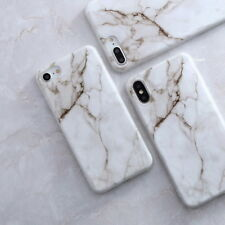 For iPhone X 8 7 6 Plus Retro Granite Marble Pattern Rubber Soft TPU Case Cover