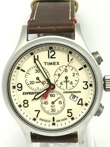 TimeX Expection 921 41 Gents Watch Analogue With Brown Leather Strap Date