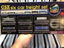 CNC134 2000 O Gauge MTH CSX 6 Car Freight Set 20-90019