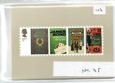 GB - PHQ CARDS -126- 2008 - JAMES BOND - BACK - FDI/SHS - U/A - FULL SET exc.m/s