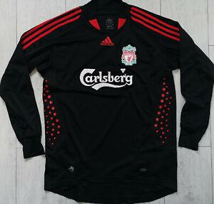 """Liverpool 2007/2008 Adidas """"M"""" Goalkeeper Shirt Jersey Long Sleeve GK"""