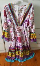 AMANDARA Kaftan Beach Boho Maxi Dress size S 8 10 Cotton