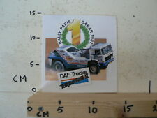STICKER,DECAL DAF TRUCKS RALLY PARIS-DAKAR 1987 TURBOTWIN II A