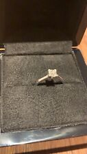 DIAMOND ENGAGEMENT RING 0.5ct, 18ct White Gold Size L