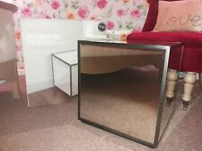 Next Antiques Mirror Cube Side Table BNIB