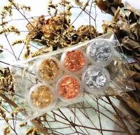 Nail Foils Glitter Nail Art Metal Effect Foile Flakes Wraps Gold&Silver&Copper