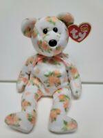 "Ty Beanie Babies Hannah Asia-Pacific -8"" 20cm New- MWMT-Beautiful Flowered Bear"
