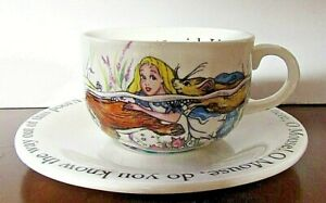 Alice in Wonderland Mad Hatter's Tea Party Cup & Saucer set by Cardew 2004