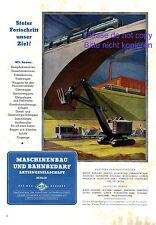 MBA Maschinenbau XL Reklame 1941 Berlin Bahnbedarf Lokomotive Feldbahn Kran