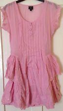 BNWOT Kate Moss Topshop Pink Ruffle Dress Size 8