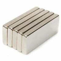 10/50/100  Super Strong Block Fridge Magnets Rare Earth Neodymium 25x10x3mm N52