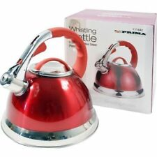3.5L Stainless Steel Whistling Kettle with Silicone Handle Red