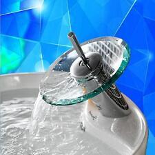 Glas Wasserfall Badezimmer Küche Waschtisch Armatur Bassin Mischer Wasserhahn