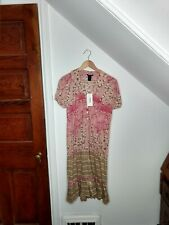 Custo Barcelona Floral Print Cotton Dress Women's Size 4 NWT
