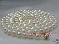cadeau d'anniversaire ! 7-8mm,blanc, Akoya, perle de culture,  collier, 61cm