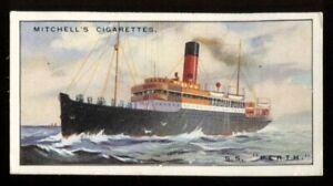 Tobacco Card, Mitchell, RIVER COASTAL STEAMERS, 1925, SS Perth, #49