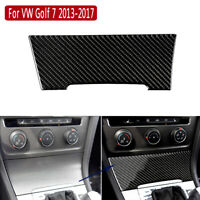 Carbon Fiber Inner Cigarette Lighter Cover Decorative Trim For VW Golf 7 2013-17