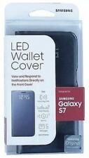 Samsung LED Wallet Cover Case for Samsung Galaxy S7 Black New In Box MRSP $69.99