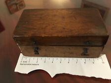 Petite boîte de poids laiton ancienne complète annotée en 1892