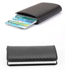 Мужские радиочастотная идентификация блокировки бумажник кожаный кредитной карты держатель наличные деньги зажим кошелек