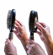 Qwik-Clean Hairbrush Easy Clean Brush Black