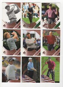 2003 Upper Deck SP Authentic Golf Card Set 1-60 Woods Nicklaus Palmer